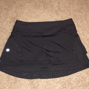 Athleta black size small tennis skirt